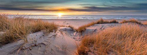 Paal 17 Texel zonsondergang  Panorama  van