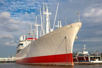 Traditioneel schip Cap San Diego in Hamburg van Sabine Wagner