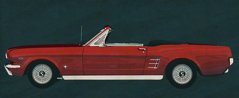Ford Mustang Convertible uit 1964 van Jan Keteleer