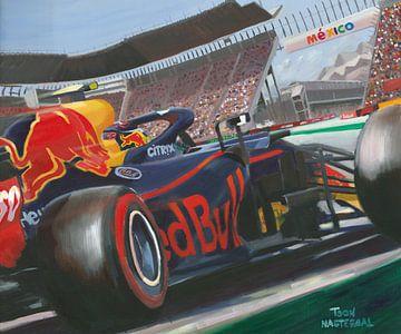Painting 2018 Red Bull Racing RB14 #33 Max Verstappen Mexico by Toon Nagtegaal van Adam's World