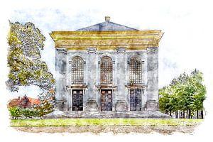 Rückseite der Nieuwe Kerk in Zierikzee (Zeeland) (Aquarell)