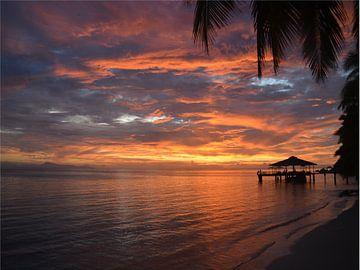 Zonsondergang op Seychellen von Toon Loonen