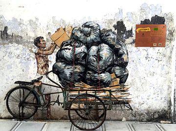 Art de rue Kuala Lumpur sur Rudy en Gisela Schlechter