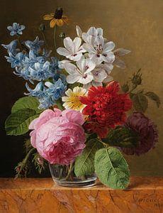 Boeket met bloemen in een vaas, Jan Frans van Dael