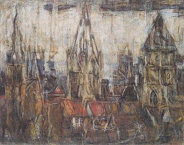 Türme von Soest, Christian Rohlfs - 1921 von Atelier Liesjes