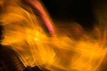 Oranje en Gele Hersengolven van Robert Wiggers