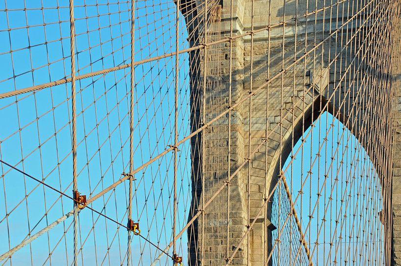 Brooklyn Bridge kabels van Paul van Baardwijk