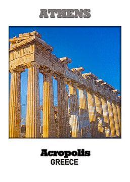 Athen & Akropolis van Printed Artings