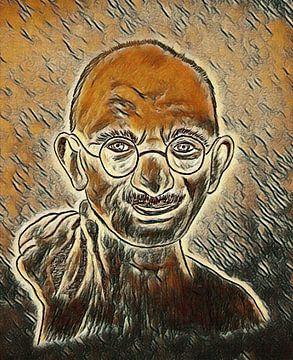 Gandhi im Picasso-Stil von Jose Lok