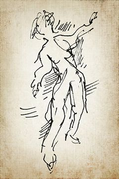 Danser toen en nu 1 van Eva van den Hamsvoort