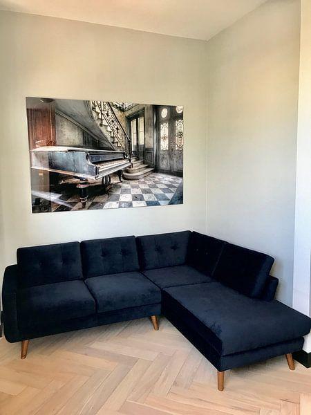 Klantfoto: Huis van de Piano speler. van Roman Robroek, op staal