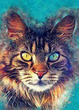 Katze 6 Tiere Kunst #Katze #Katzen #Kätzchen von JBJart Justyna Jaszke