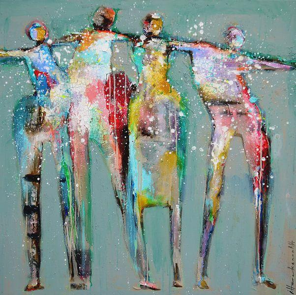 Dance people 2 van Atelier Paint-Ing