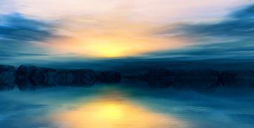 Zonsondergang kleuren 3 van Angel Estevez