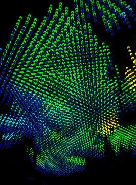 gekleurden lichten, gloeilampen van Nynke Altenburg