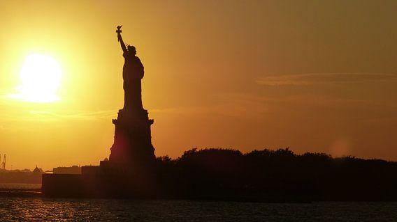Vrijheidsbeeld Zonsondergang