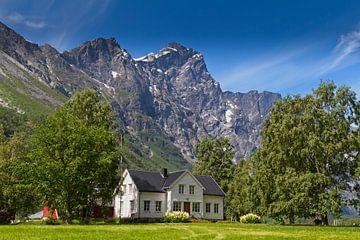 Huis in de Noorse bergen van Hamperium Photography