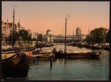 Vismarkt, Rotterdam von Vintage Afbeeldingen