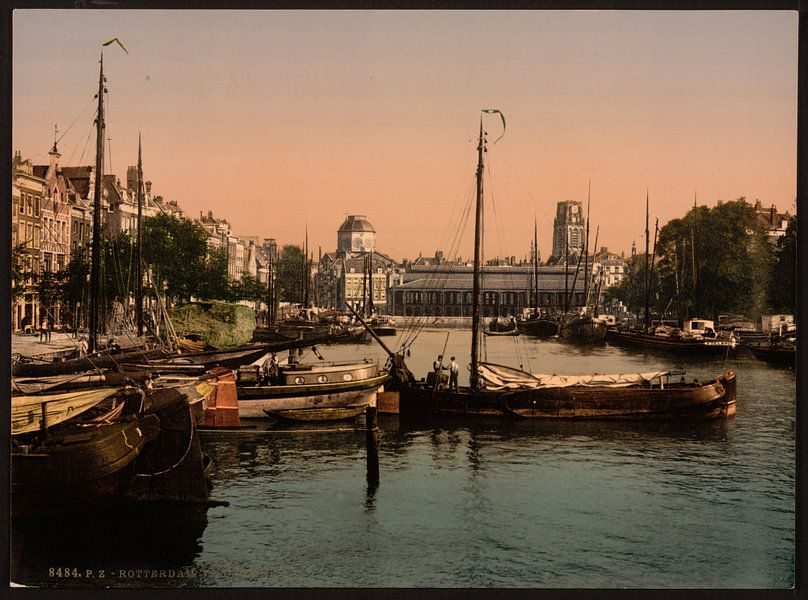 Vismarkt, Rotterdam van Vintage Afbeeldingen