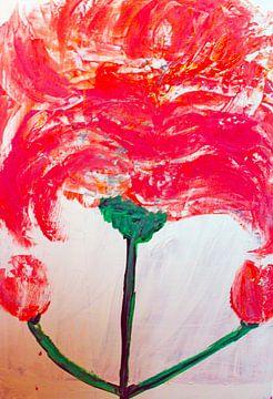 abstracte bloem van M.A. Ziehr