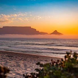 Zuid Afrika Zonsondergang van Fabian Bosman