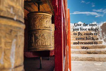 Tibetetaans klooster+ Dalai Lama Quote van Misja Vermeulen