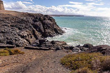 Panoramablick auf die felsige Küste von El Cotillo auf der Kanareninsel Fuerteventura von Reiner Conrad
