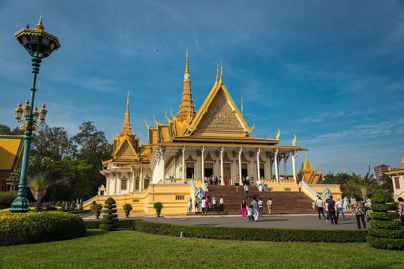 Koninklijk paleis, Phnom Penh, Cambodja van Rietje Bulthuis