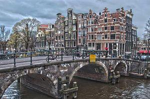 Amsterdamse grachten (Prinsengracht II) van Arthur Wijnen