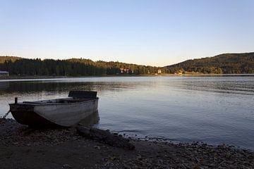 Boot op Lipno meer van Rijk van de Kaa