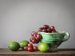 Bol avec raisins et melons