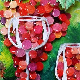 Weintraube im Glas van Thomas Suske