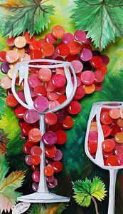 Weintraube im Glas