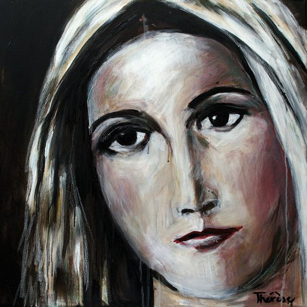 Portret van Maria, moeder van Jezus, katholiek van Therese Brals