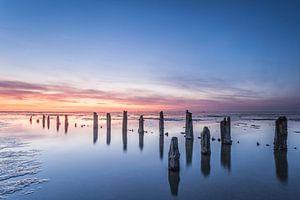 Wad voor de kust van Wierum bij laag water