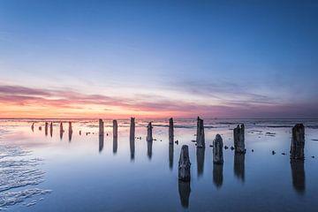 Wad voor de kust van Wierum bij laag water van Jurjen Veerman