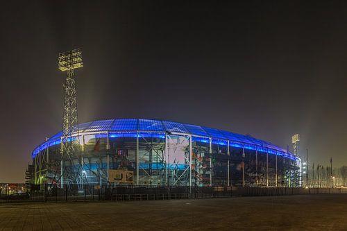 Feyenoord Rotterdam stadium at Night - part six von Tux Photography