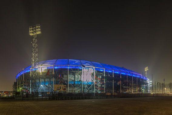 Feyenoord Rotterdam stadium 'De Kuip' at Night - part six
