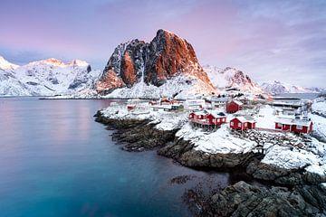 Hamnoy Lofoten Winter sur