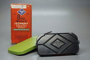 8mm filmcassette van Agfa van Berthold Werner