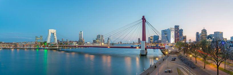 Panorama Willemsbrug in onderhoud van Prachtig Rotterdam