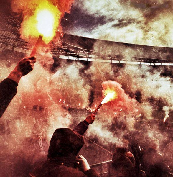 Fakkel Feyenoord 'Curva Nord' van Peter Lodder