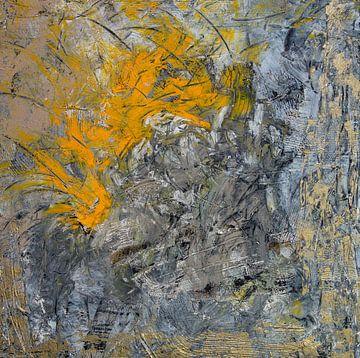 'abstraktes Gelb-Grau', Jan Fritz von Jan Fritz