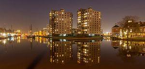 Panorama Oosterhaven Groningen van