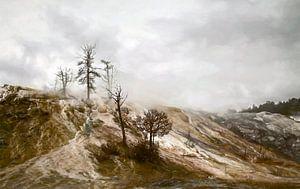 Yellowstone Mammoth Hot Spring van Dick Jeukens