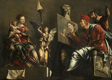 Der heilige Lukas malt die Jungfrau mit Kind, Maarten van Heemskerck