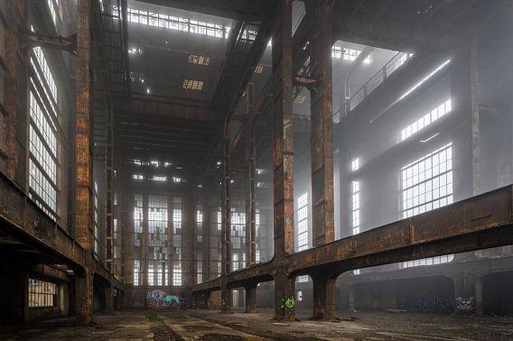 Verlaten fabriek in Belgie   ECVB Centrales electriques