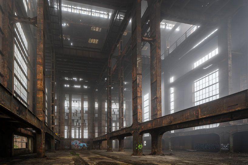 Verlaten fabriek in Belgie   ECVB Centrales electriques van Steven Dijkshoorn