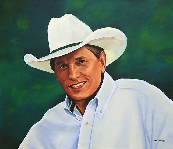 George Strait schilderij van Paul Meijering