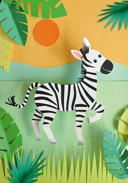 Zebra Kinderzimmer von Lonneke Leever